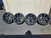 "Wheel 20"" BLACK AND CHROME RIMS"
